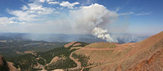 Waldo Canyon Fire from Pikes Peak