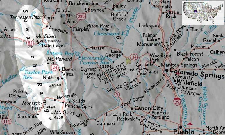 Sawatch Range Aerial Views